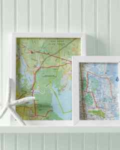 Embroidery Floss Map Art