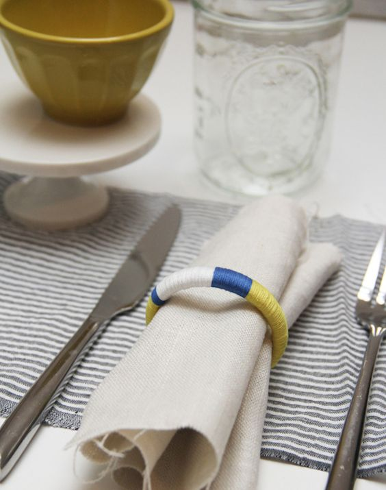 Embroidery Floss Napkin Ring
