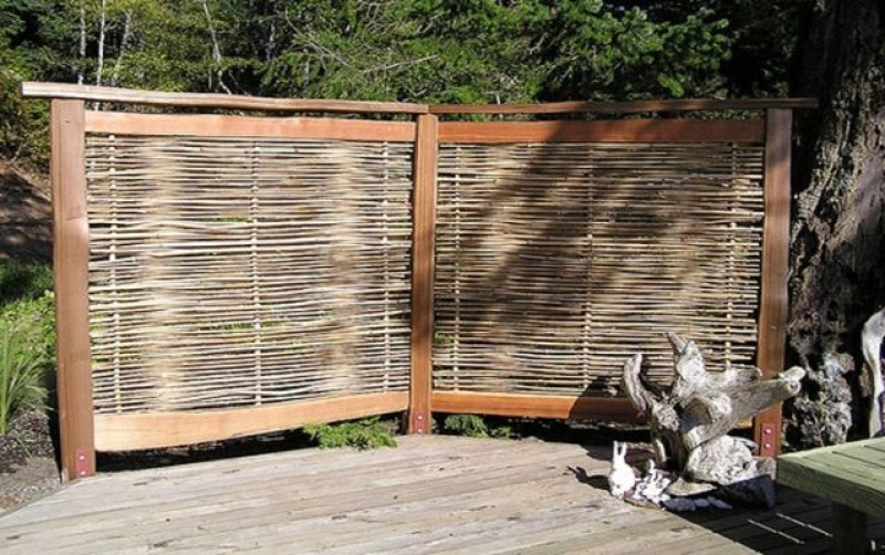 Wood Crafts Privacy Screen