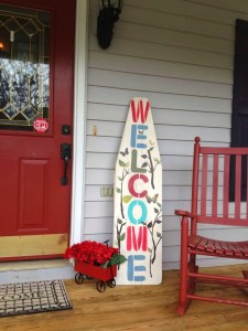 Wood Crafts Welcome Sign