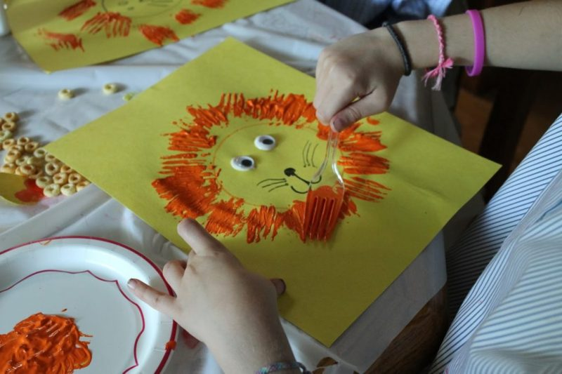 Crafts for Toddlers Lion Art