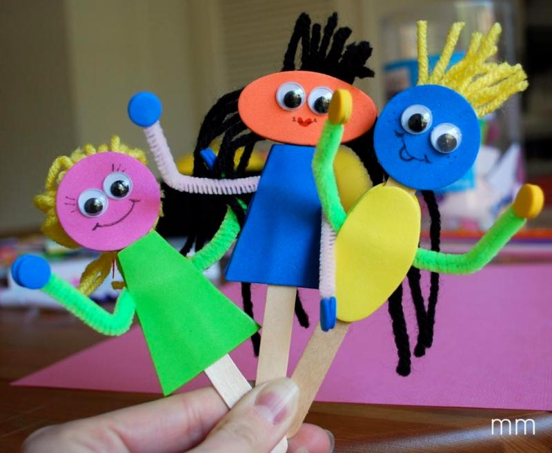 Crafts for Toddlers Pop Stick Puppet