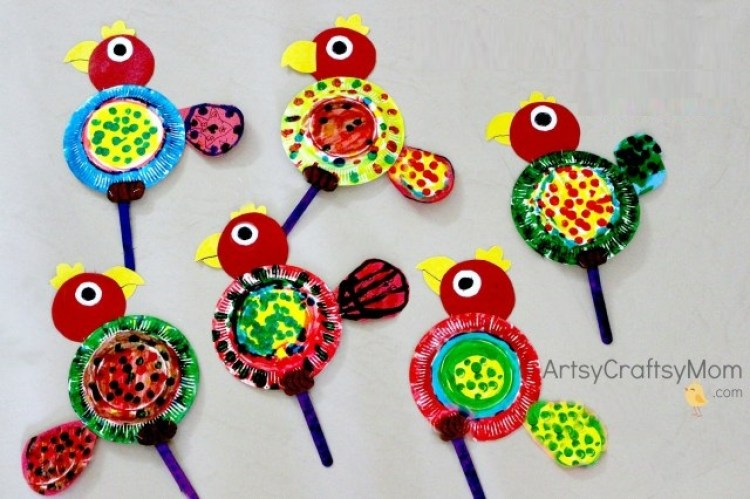 Crafts for Toddlers Paper Parrot
