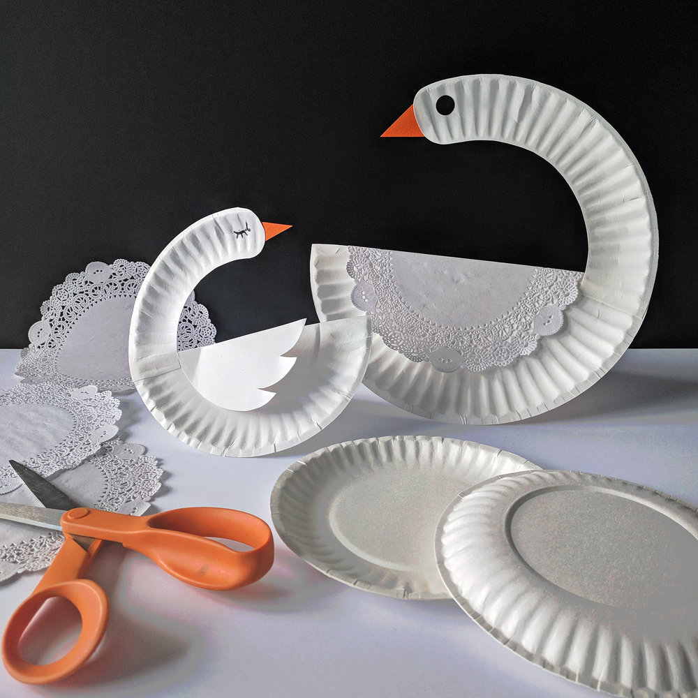 Paper Plate Craft Swan No More Still