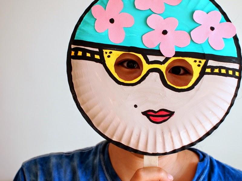 Paper Plate Craft Vintage Mask