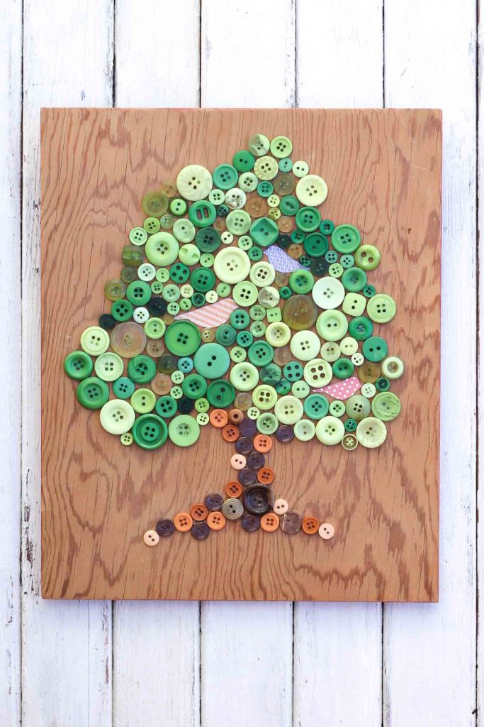 Simple Craft Button Tree