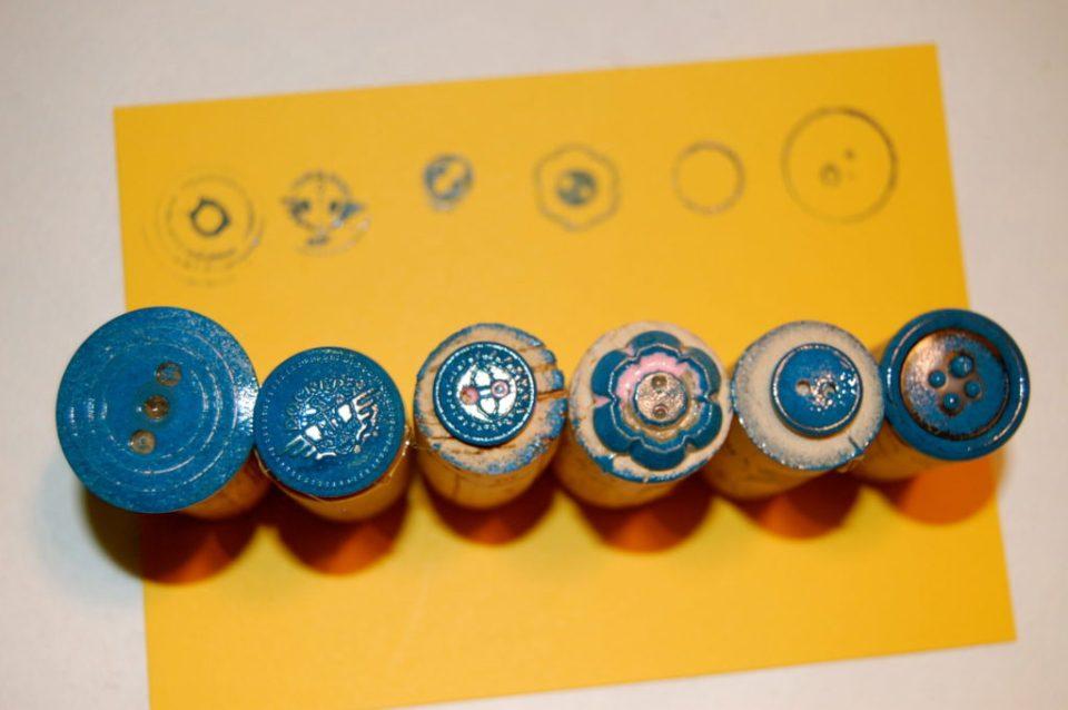 Spring Crafts Cork Stamped