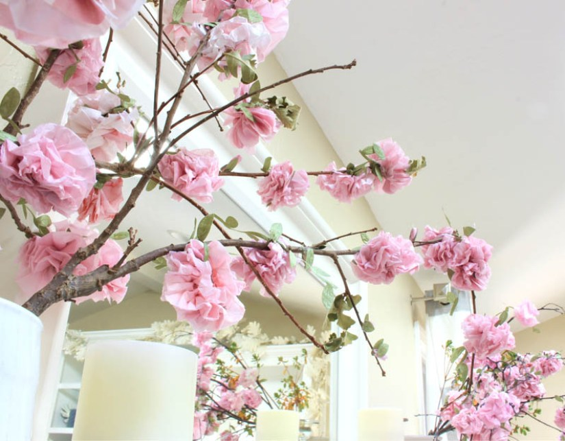 Spring Crafts Paper Blossom
