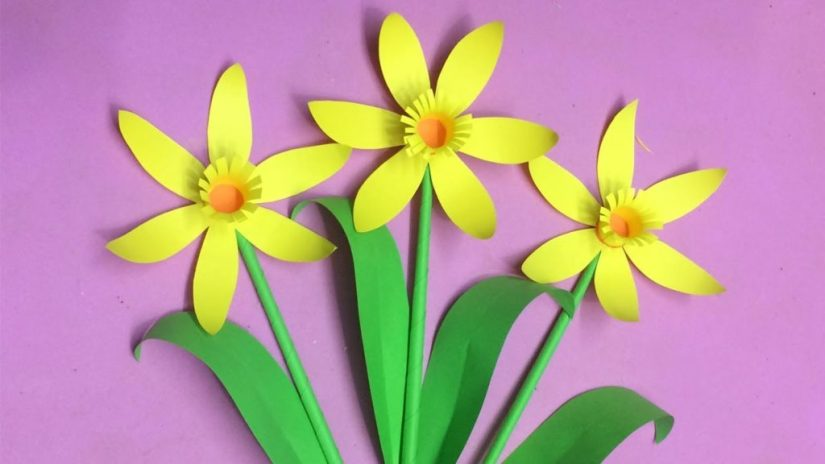 Spring Crafts Paper Flower