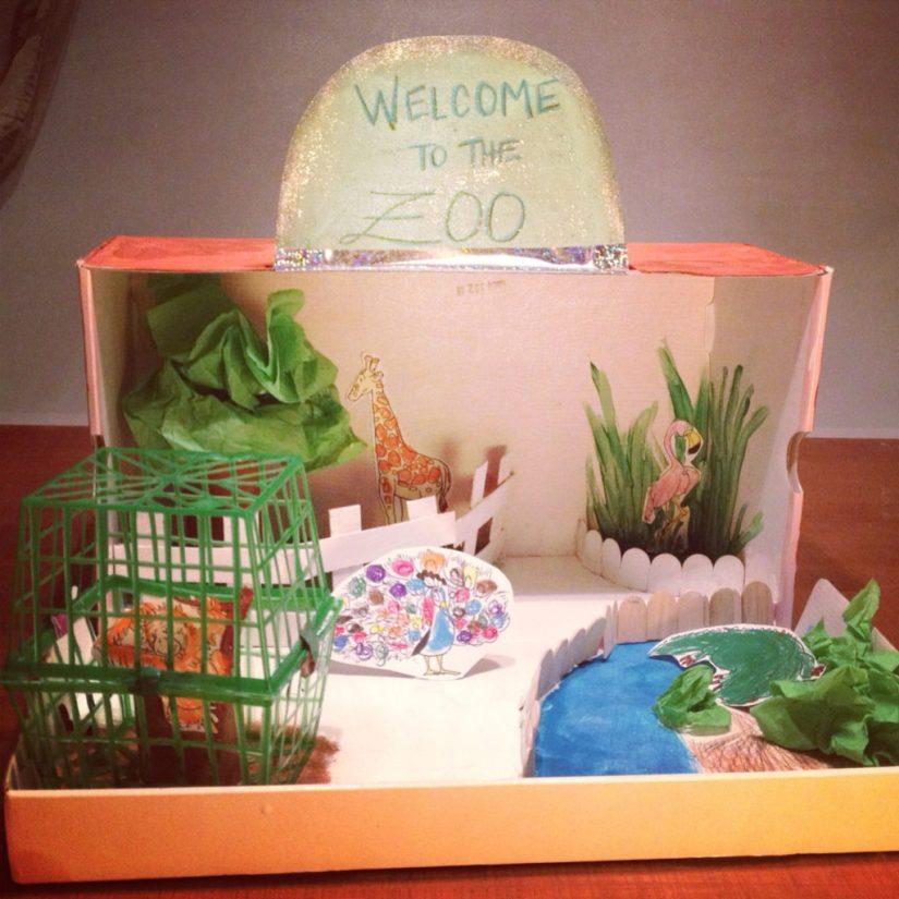 Craft Box Cardboard Zoo