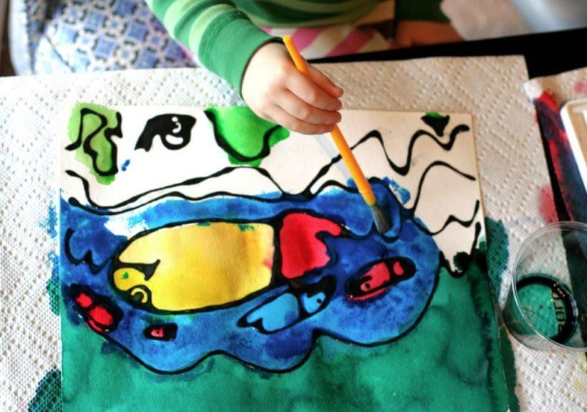 Craft Paint Glue Monster