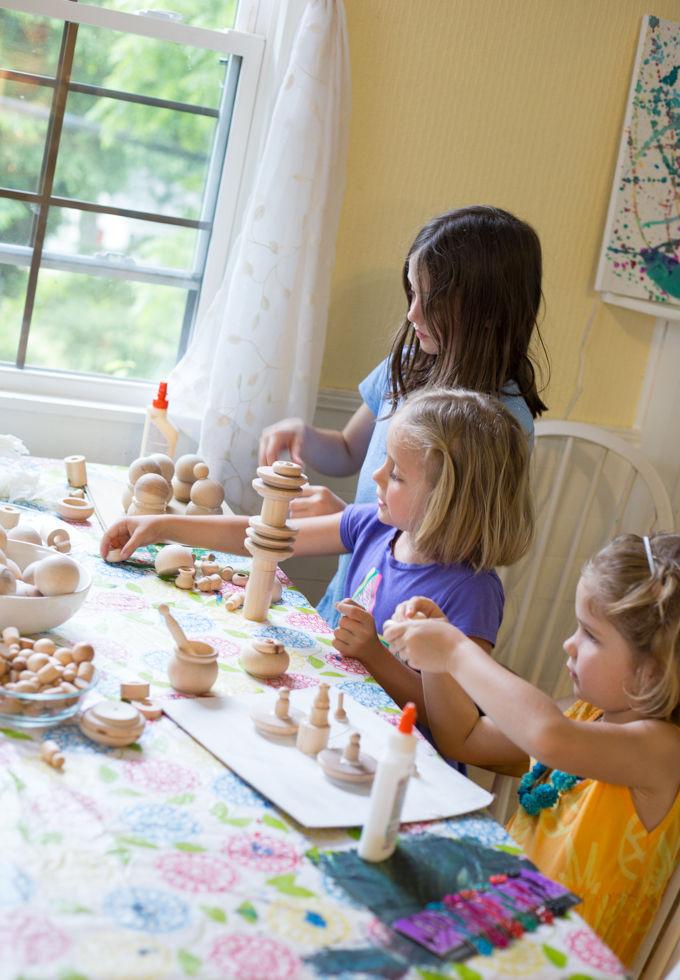 Wood Crafts for Kids Sculptures