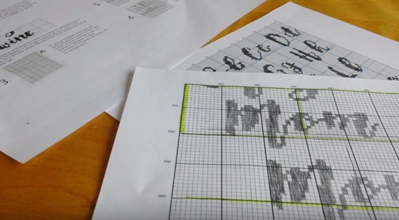 Cross Stitch Fonts Redrawing