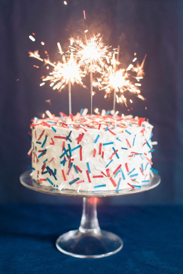 Holiday Craft Confetti Cake