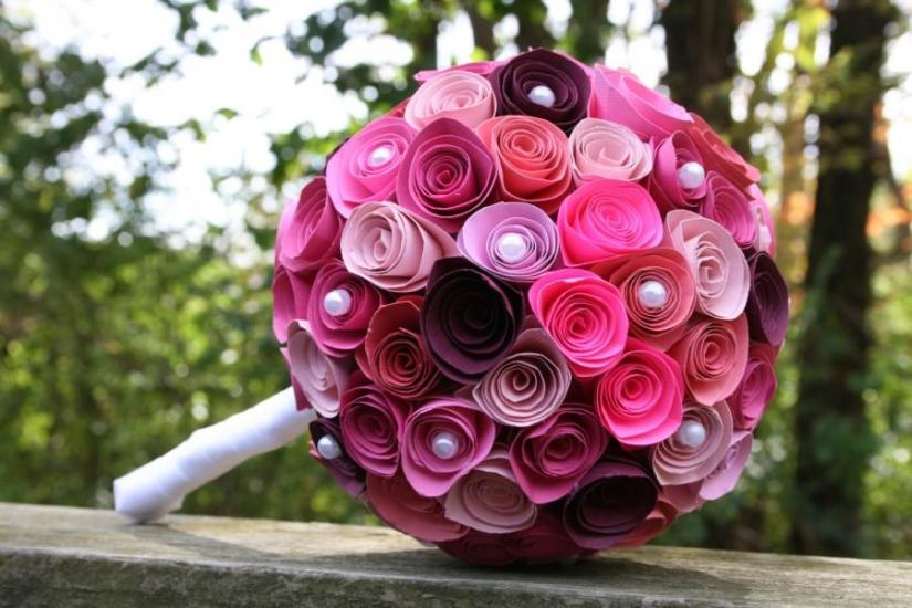 Paper Flower Bouquet Steps