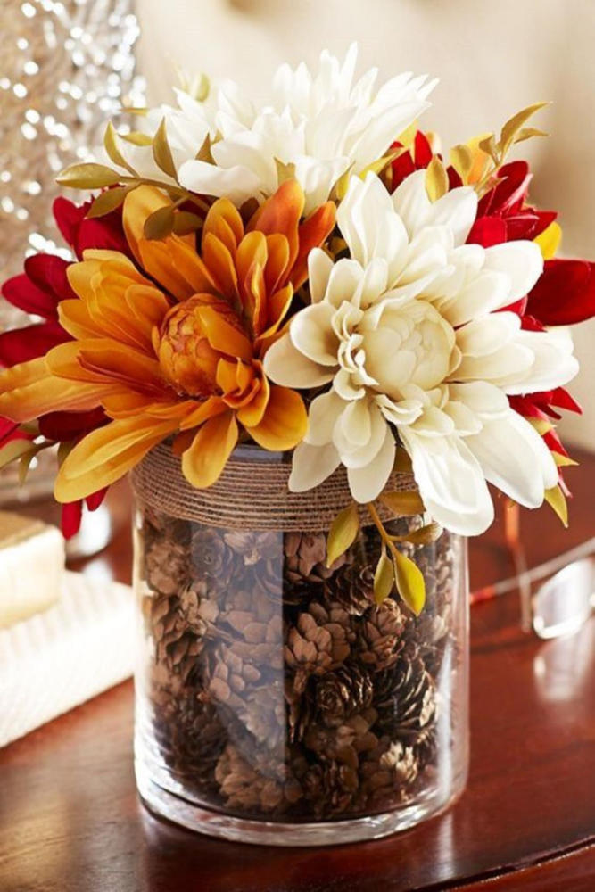 DIY Fall Decor Faux Dahlia