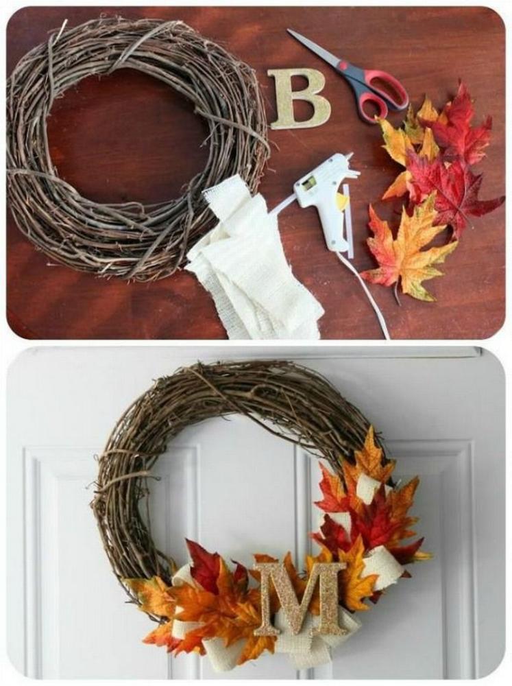 DIY Fall Decor Thanksgiving Wreath