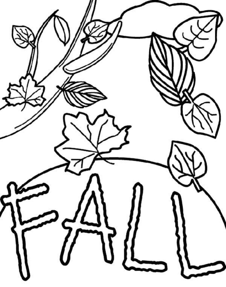 Fall Crafts Coloring