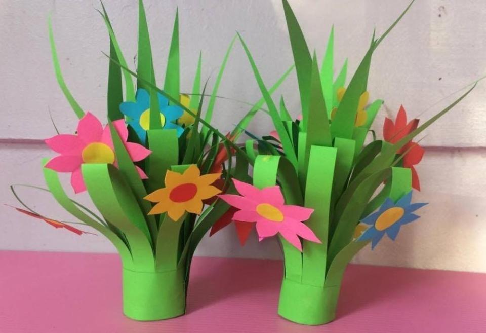Paper Flowers for Kids Bouquet