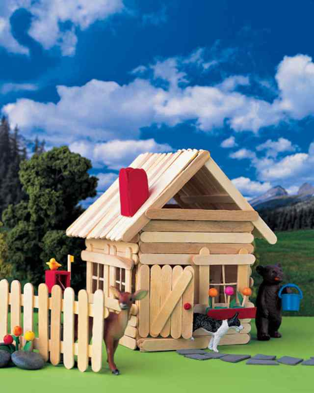 Popsicle Stick House Countryside