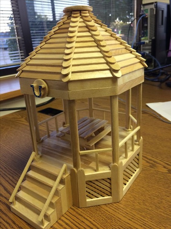 Popsicle Stick House Gazebo