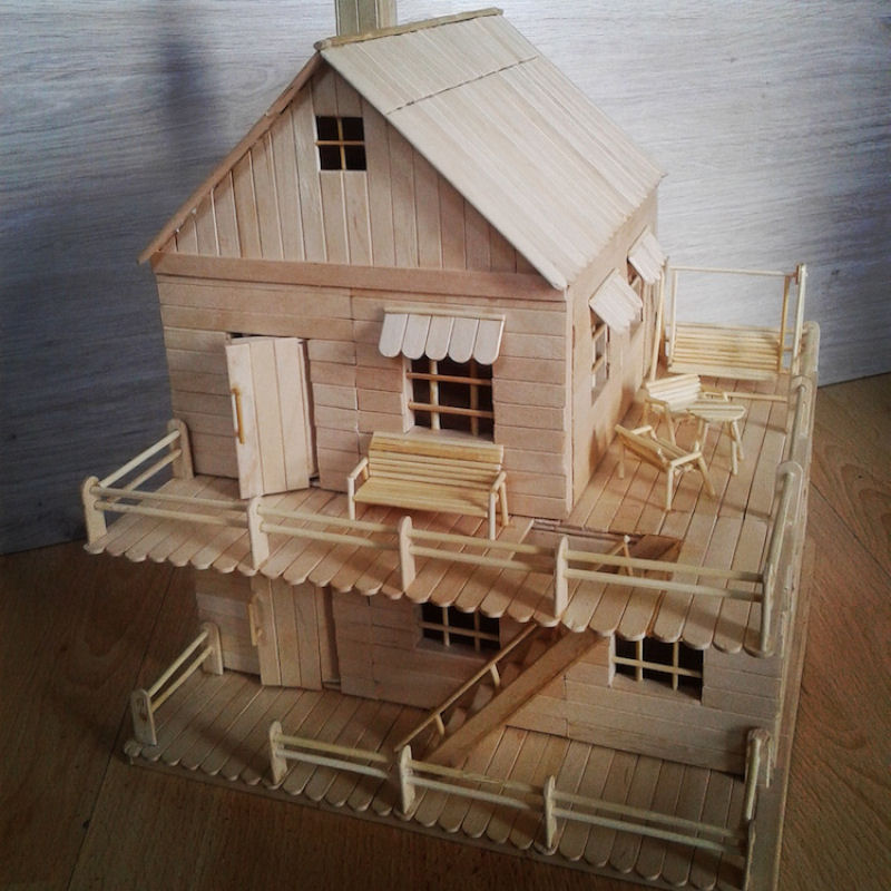 Popsicle Stick House Rooftop