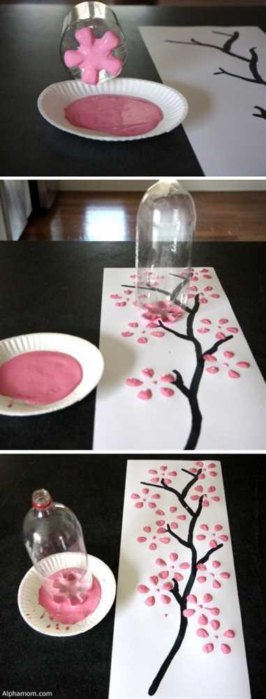 Crafts for Bottles Flower Wall Art