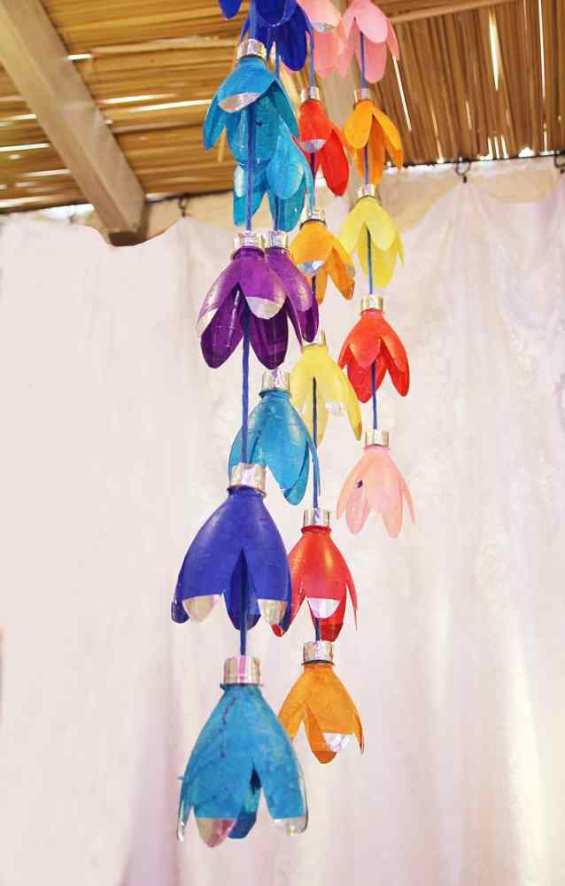 Crafts for Bottles Wind Chimes
