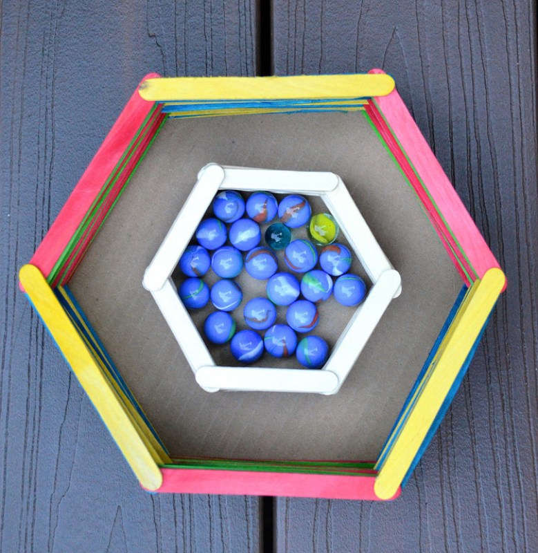 Popsicle Stick Crafts Basket