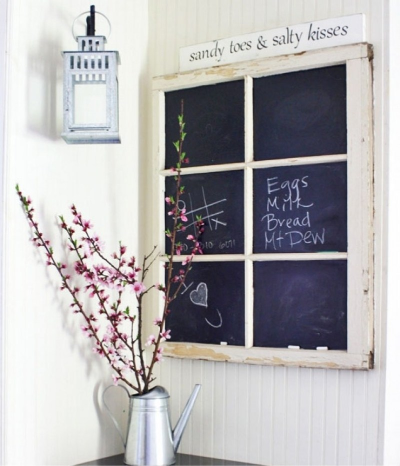 chalkboard and whiteboard