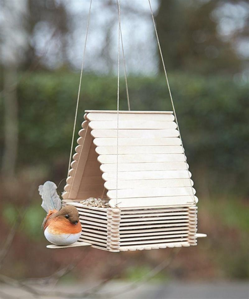a glass bird feeders