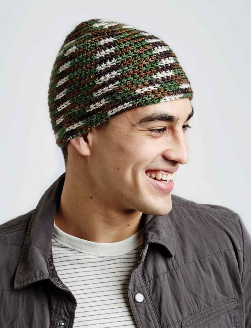 mens crochet hat patterns easy