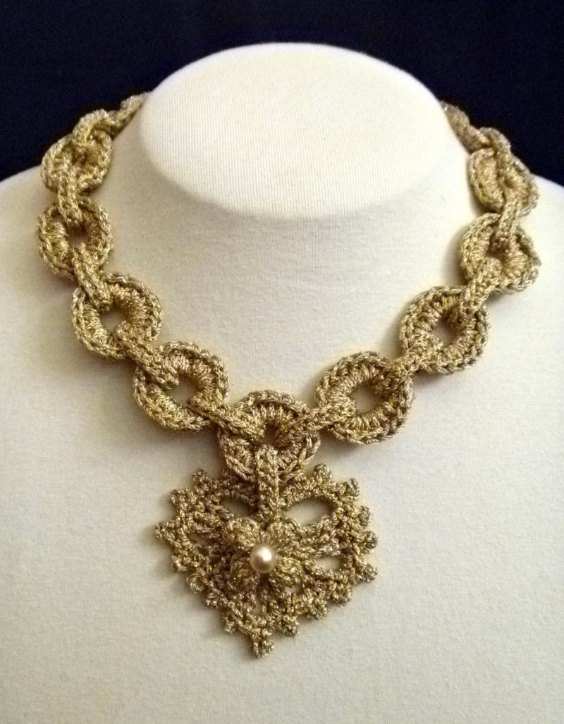 crochet collar necklace pattern