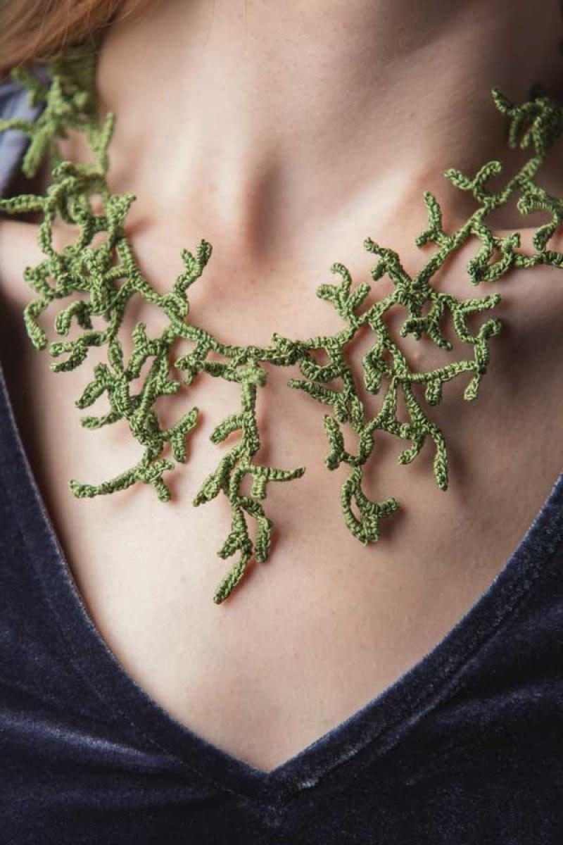crochet accessories necklace