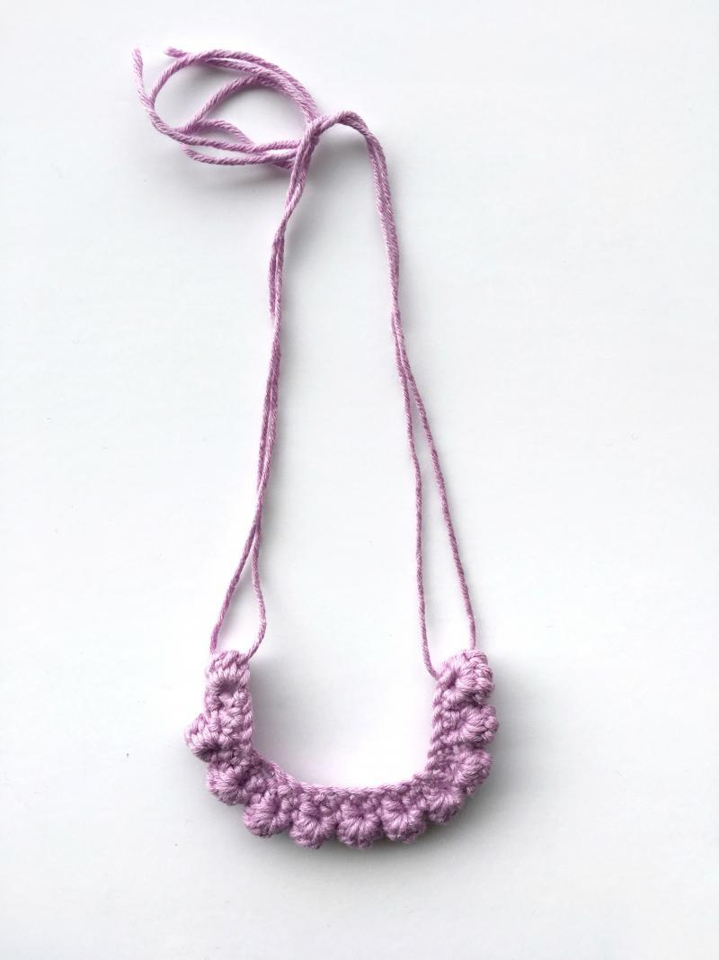 crochet bead necklace tutorial