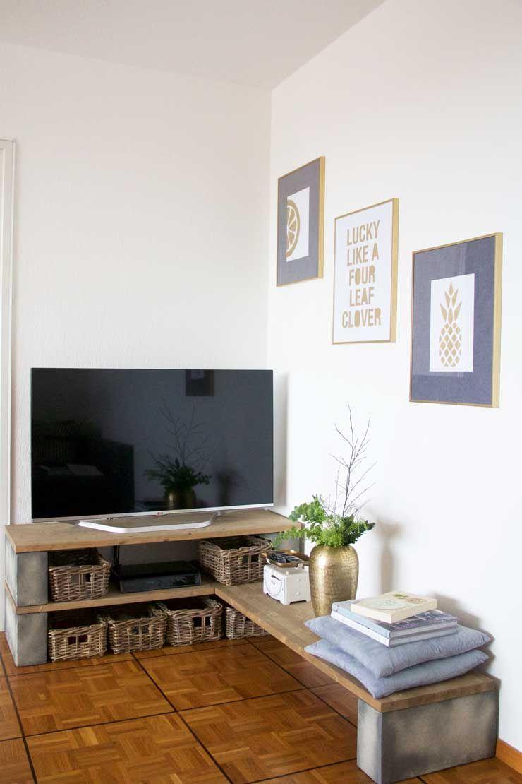 diy build a tv stand