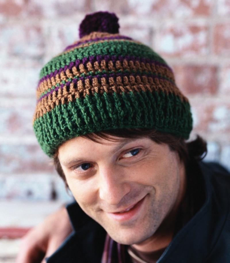 mens crochet hat pattern free