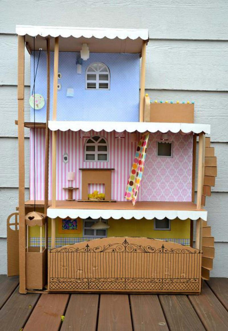 diy american girl doll house out of cardboard