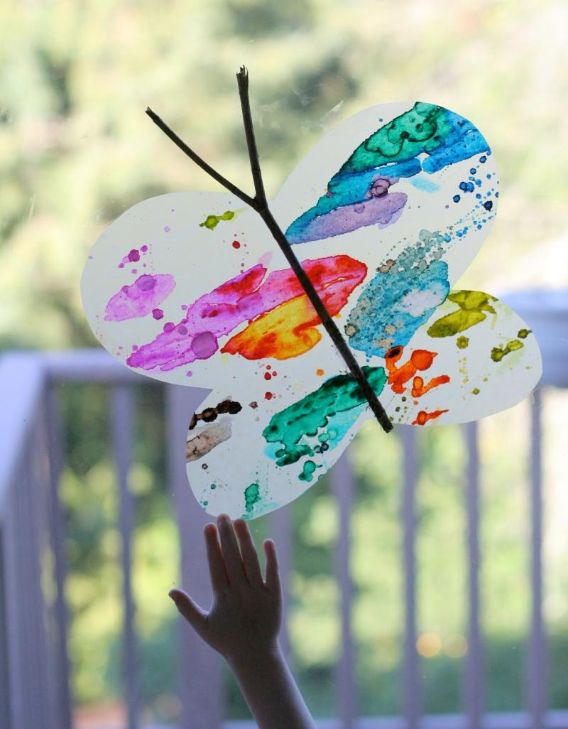 wooden butterfly crafts