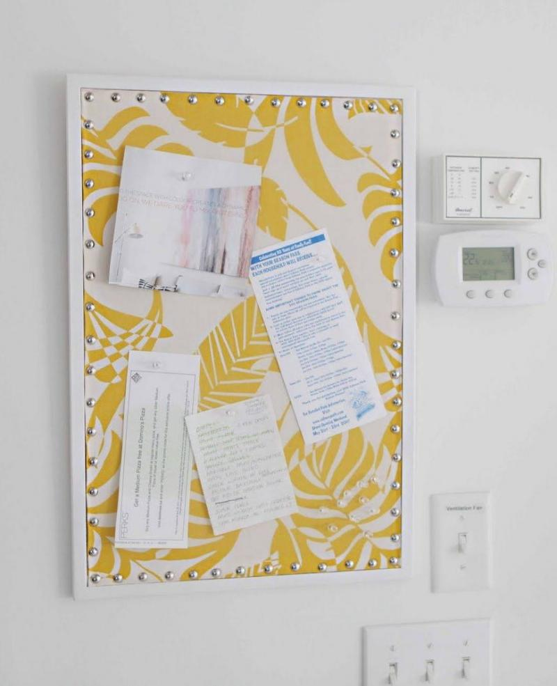 diy bulletin board cardboard