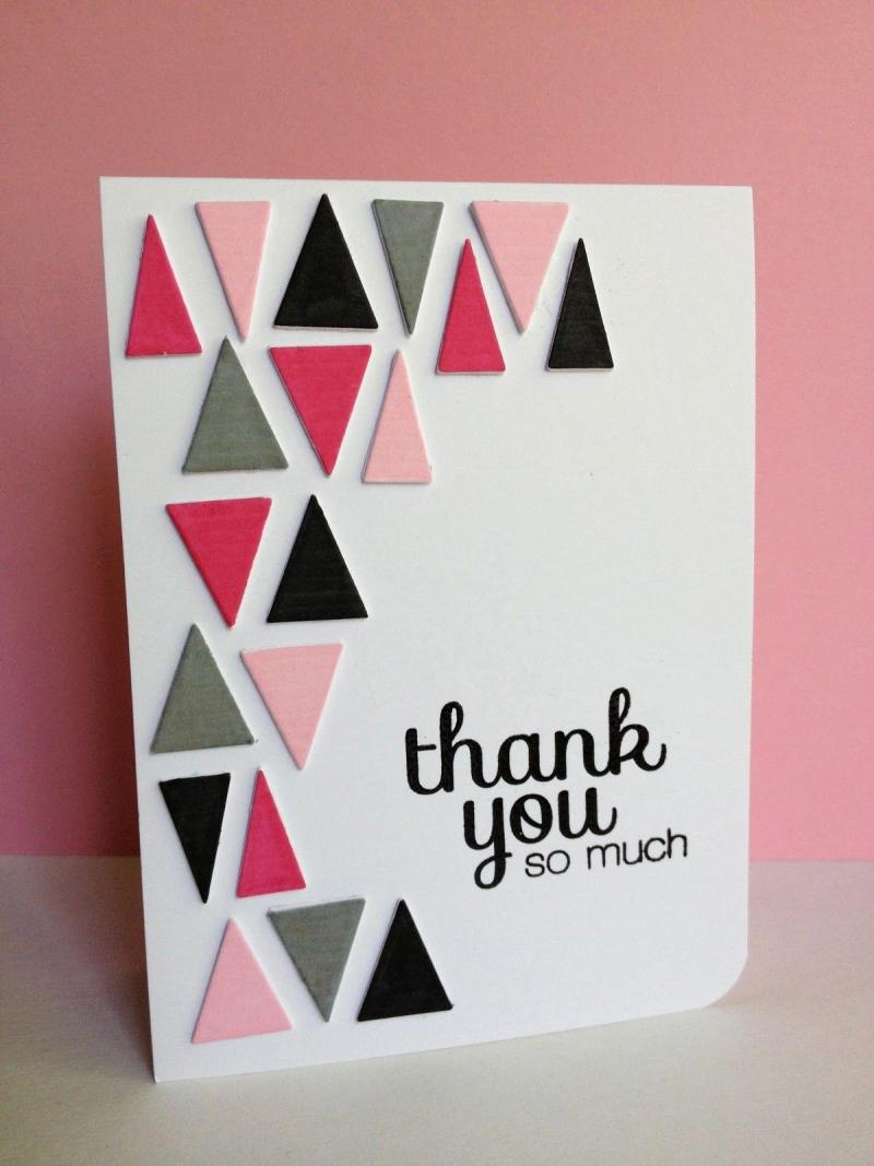 diy baby thank you cards