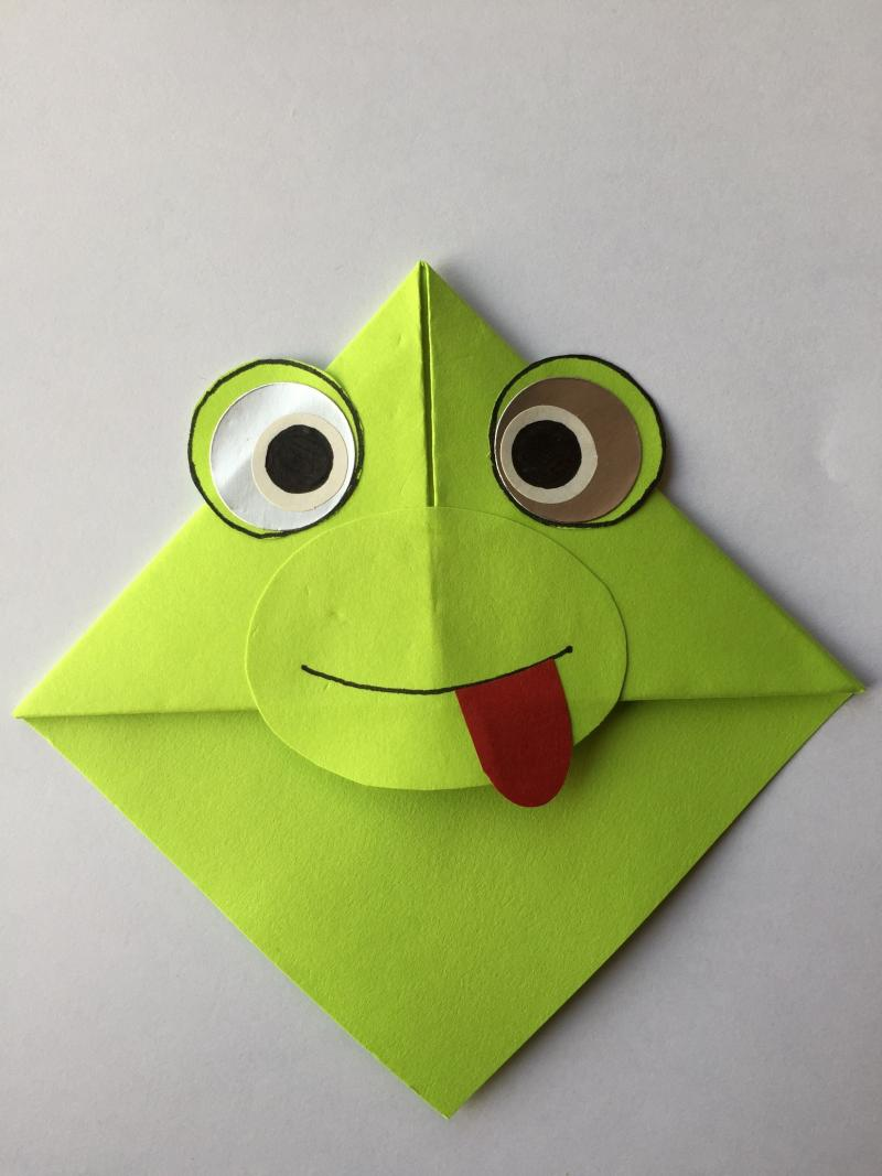 origami frog step by step instructions