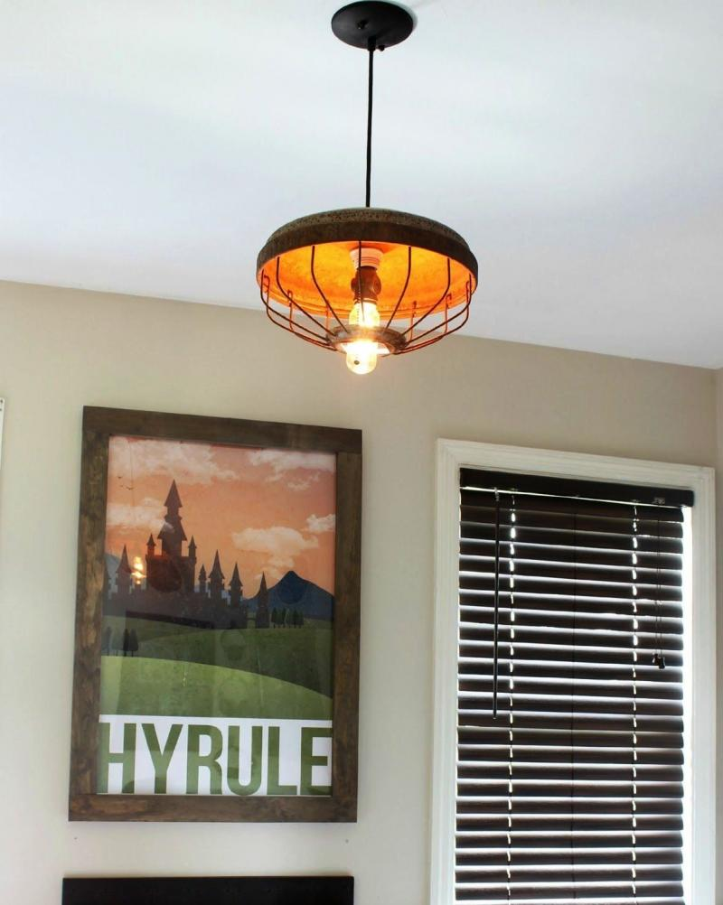 diy drum shade pendant light