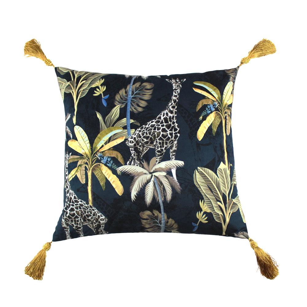 simone 45cm x 45cm navy gold cushion