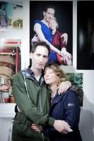 Chis Harper and Victoria Bourne at Portrait Salon 2015