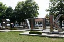 Taman depan museum batik.