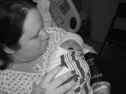 sadie and mommy bw