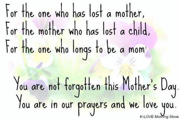 Thoughts on Mother's Day From a Motherless, Infertile ...