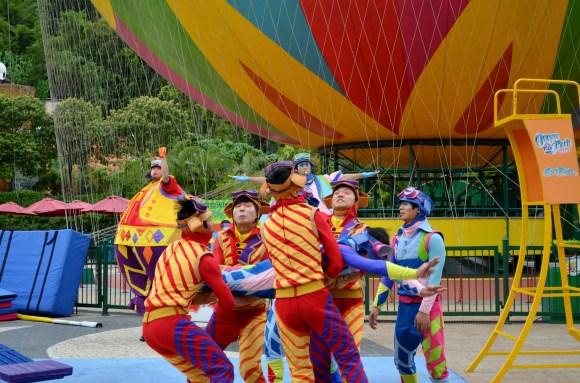 Acrobat performers at Oceanside Park, Hong Kong