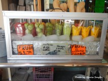 So many choices for a fruit snack including the mouth watering prickly pear cactus fruit.